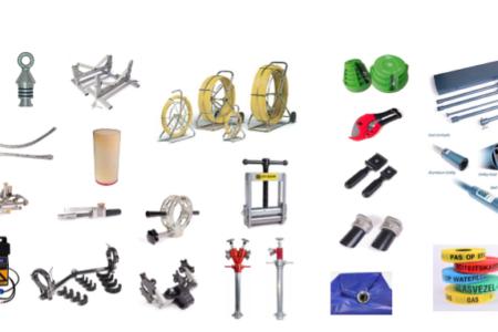 Gereedschappen en hulpmiddelen voor leidingbouw